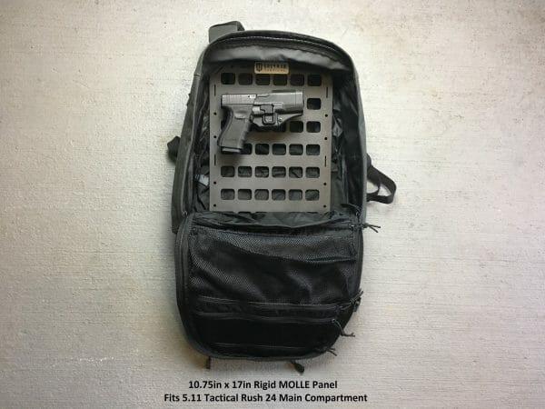 10.75 x 17 rmp molle panel insert for bags inside