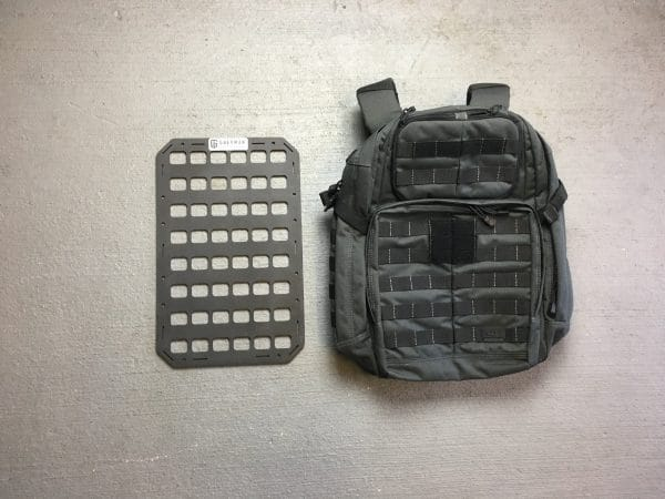 10.75 x 17 rmp molle panel insert for bags next to bag