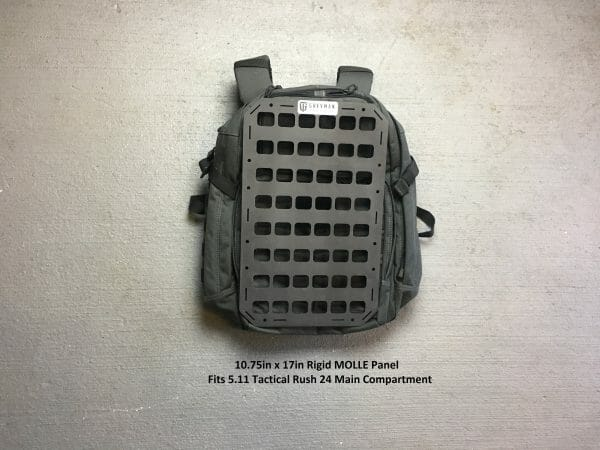 10.75 x 17 rmp molle panel insert for bags on top