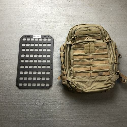 12.25 X 19 RMP™ Backpack Insert molle panel next to bag