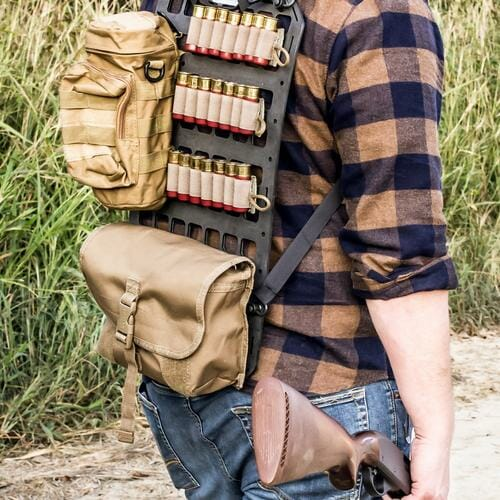 12.25 X 21 RMP™ Backpack man with rifle and shotgun rounds