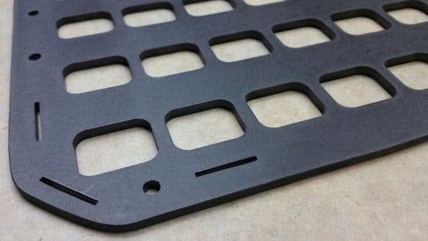 12.25 X 21 RMP molle panel backpack insert up close mounting holes