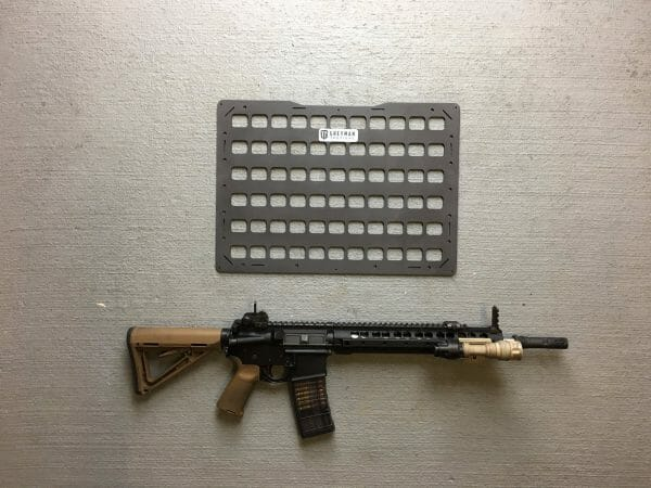 18.5 x 13.125 rmp molle panel for pelican cases with ar15