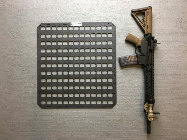 21.25 X 23 gun safe molle panel compared size to ar 15