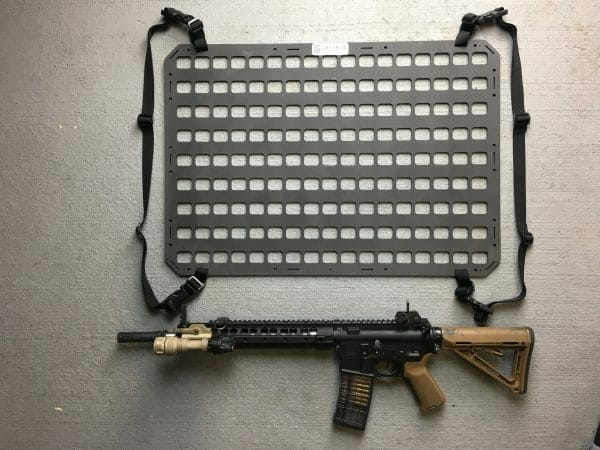 27.25 X 19 RMP Molle Panel For Cases next to ar15 and straps