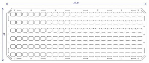 34.75 X 13 RMP for pelican case graph