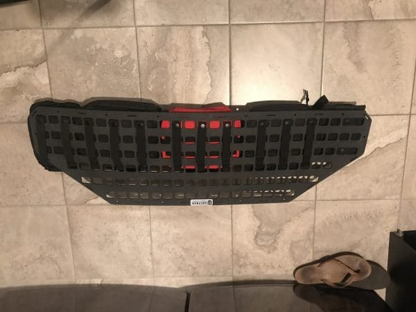 42.25 X 13 RMP trunk lid molle panel one back side