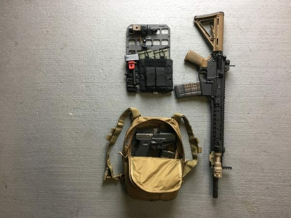 8 X 12.5 RMP molle panel insert for back pack edc kit with mag and pistol and rifle