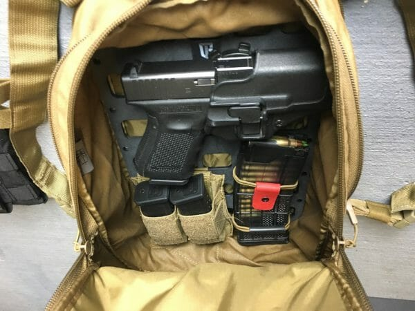 8 X 12.5 RMP molle panel insert for back pack edc neatly packed