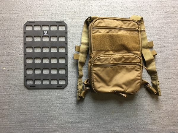 8 X 12.5 RMP molle panel insert for back pack edc next to back pack