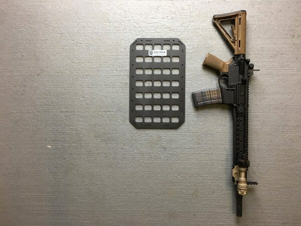 9.25 x 15 inches molle panel for backpacks next to ar 15 for molle pouches