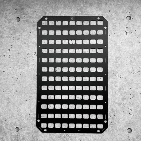 Aluminum Black Molle panel 15.25 x 25 rmpx