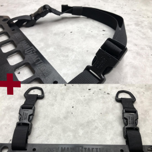 Buckle Loop-Around D-Ring RMP Strap Black [Headrest] Molle mounting