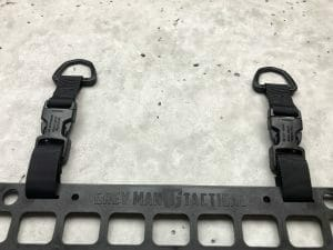 Buckle Loop-Around D-Ring RMP Strap Black [Headrest] Molle mounting d ring on molle panel