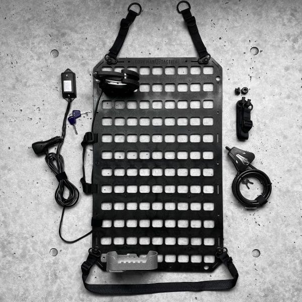 Vehicle Locking Rifle Rack - SC-6 Mount + Push Button Straps + 15.25 X 25 RMPX™ Aluminum Panel