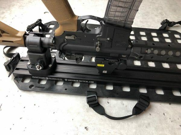 Locking Rifle Rack Kit - Raptor Rail Buffer Tube ar15 attached