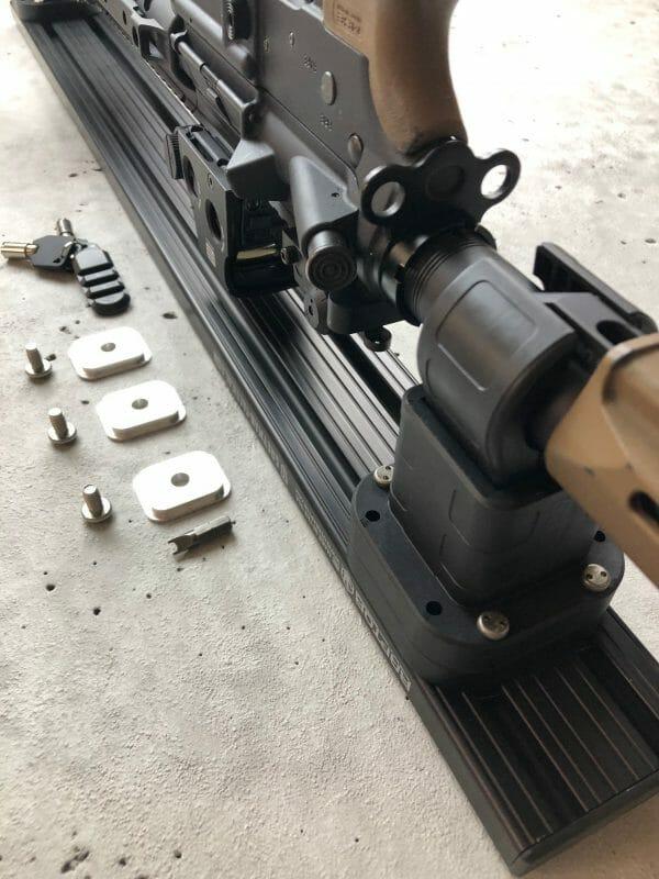 Locking Rifle Rack Kit - Raptor Rail Buffer Tube mounting brackets