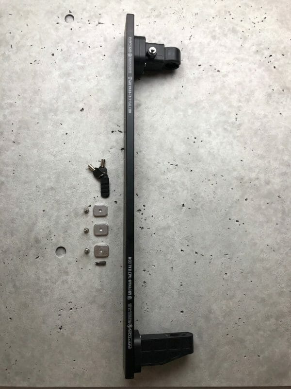 Locking Rifle Rack Kit - Raptor Rail Buffer Tube with lock