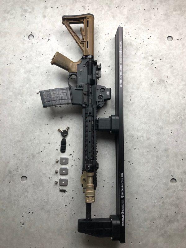 Locking Rifle Rack Kit - Raptor Rail Picatinny for vehicle mounting