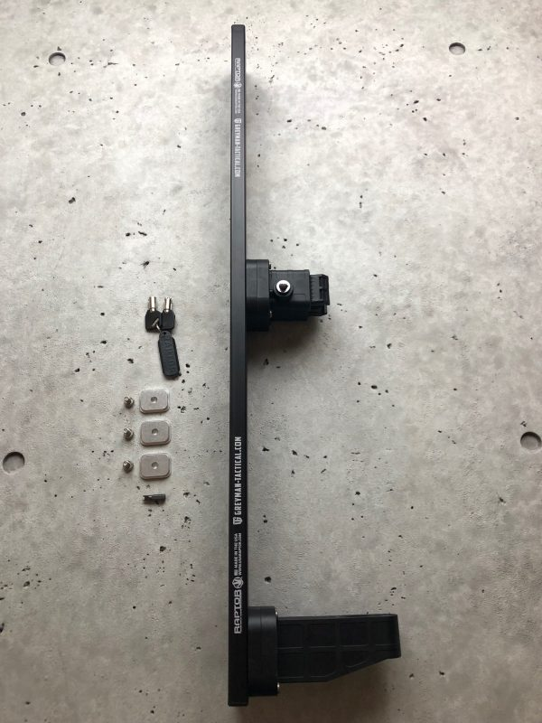 Locking Rifle Rack Kit - Raptor Rail Picatinny for vehicle mounting for molle panel