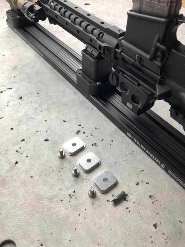 Locking Rifle Rack Kit - Raptor Rail Picatinny for vehicle mounting mounting brakets