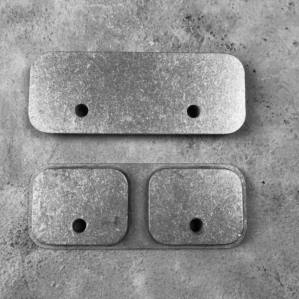 RMP Backer Plate [Locking Rifle Mount - Raptor Buffer Tube or Picatinny] Pair mounting plates