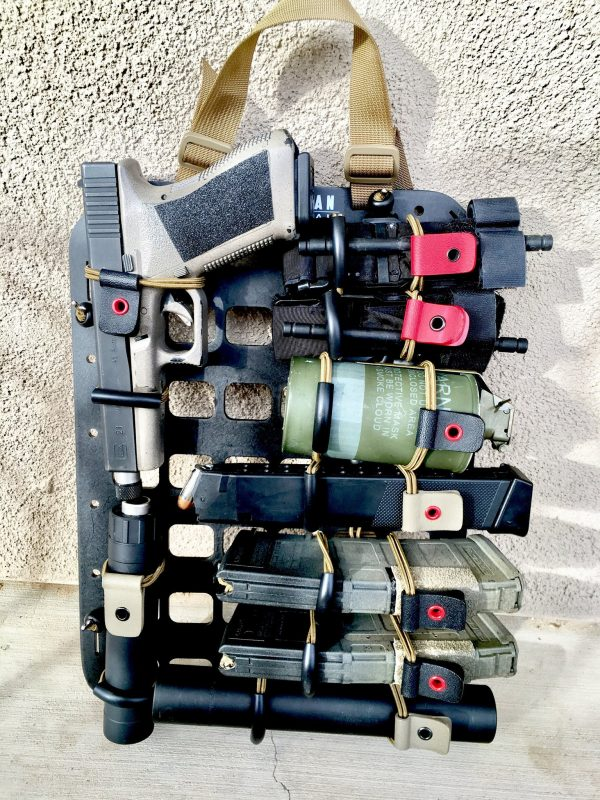 STRAP TQ Carrier with smoke grenades