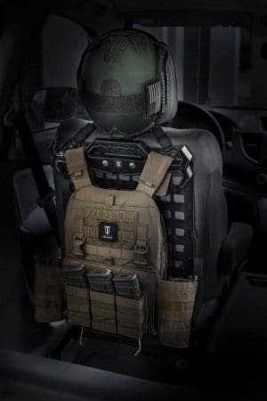 Tough Hook Kit [Plate Carrier] helmet and plate carrier set up