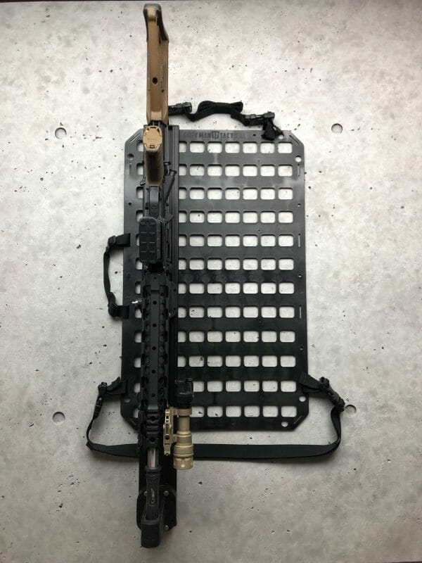Vehicle Locking Rifle Rack - Raptor Rail Picatinny Rack molle mount