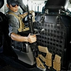 Vehicle Locking Rifle Rack - SC-6 Mount + 15.25 X 25 RMP™ on back seat