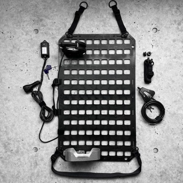 Vehicle Locking Rifle Rack - SC-6 Mount + Push Button Straps + 15.25 X 25 RMPX for large buttstocks