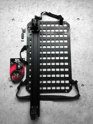 Vehicle locking rifle rack raptor rail buffer tube rack