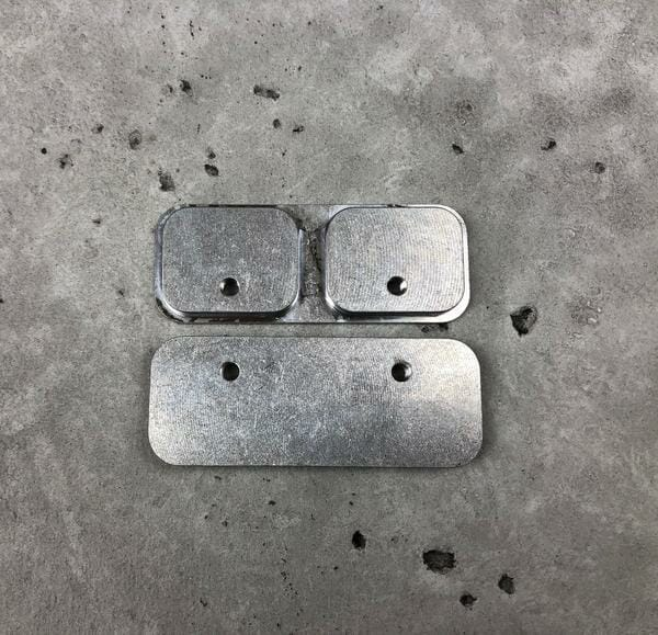 back plates for mounting weapon mounts to molle panel