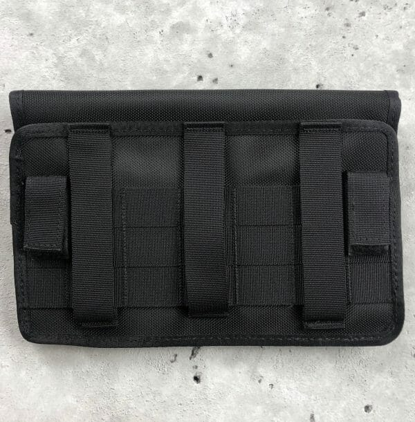 tuff molle pouch for double pistol mags black back side