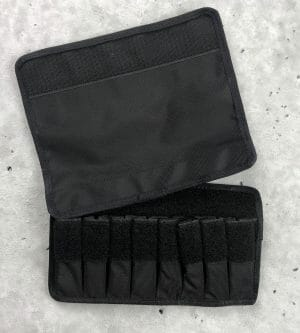 tuff molle pouch for double pistol mags black open