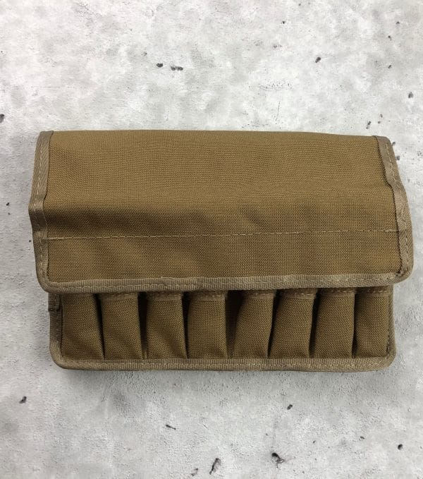 tuff molle pouch for double pistol mags brown front