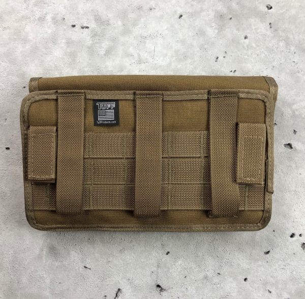 tuff molle pouch for double pistol mags coyote brown back
